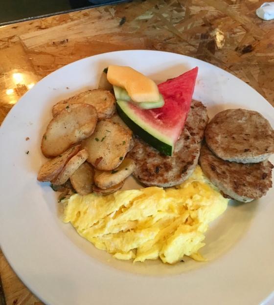 All-American Breakfast plate.