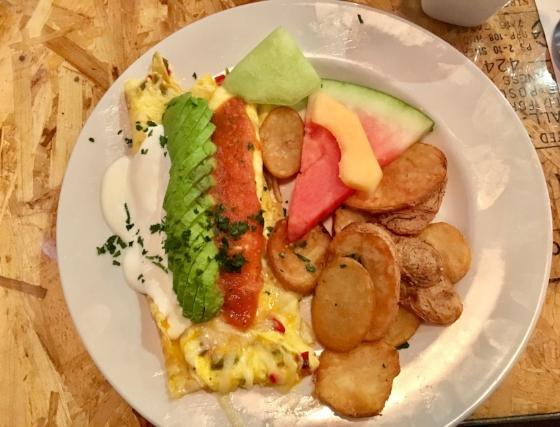 The Southwest Sunrise Omelette.