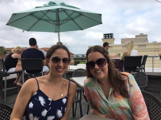 """Sarah, of """"Life of a Frye"""" and I at The Rooftop."""