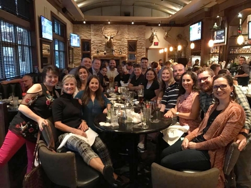 Casual happy hour with many of our colleagues!