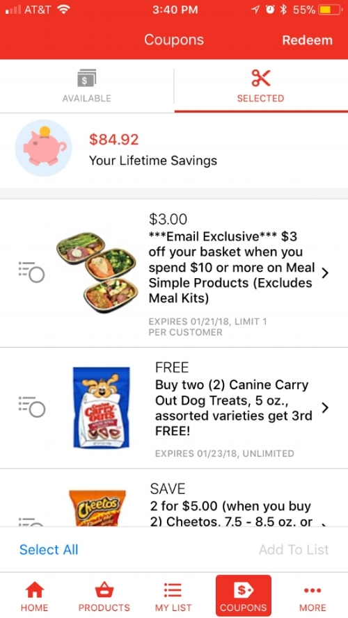 *HEB also has an app where you can clip digital coupons, too.