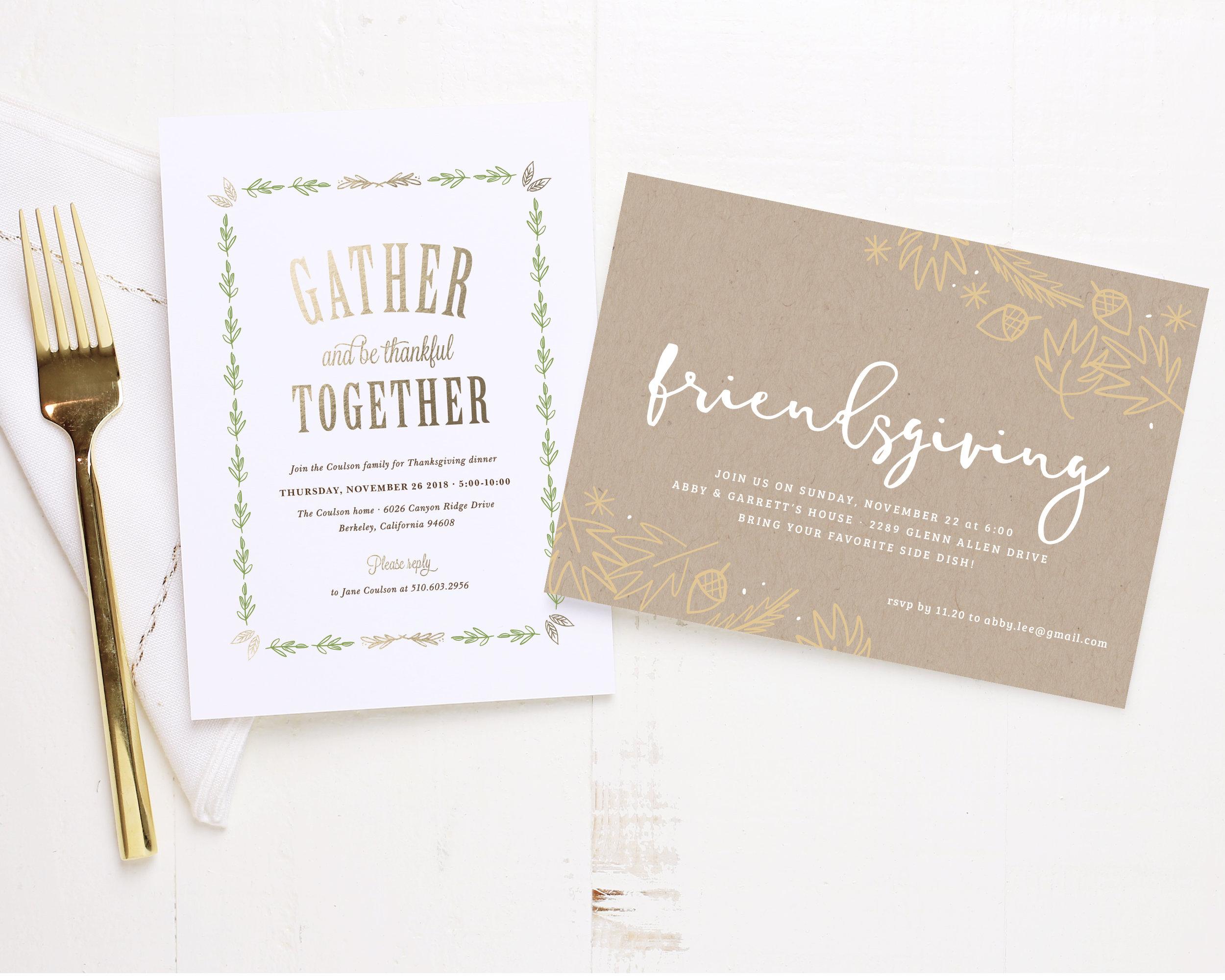 Friendsgiving Invitation- Basic Invite