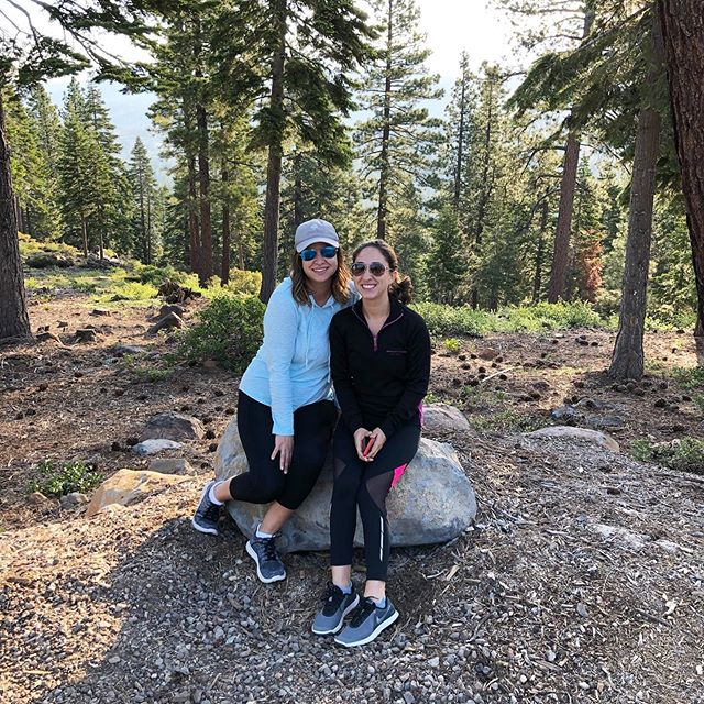 Morning walks in mountain air. 🏔 #laketahoe #truckee #californiadreamin #morningwalk #exercise #vacation #sisters