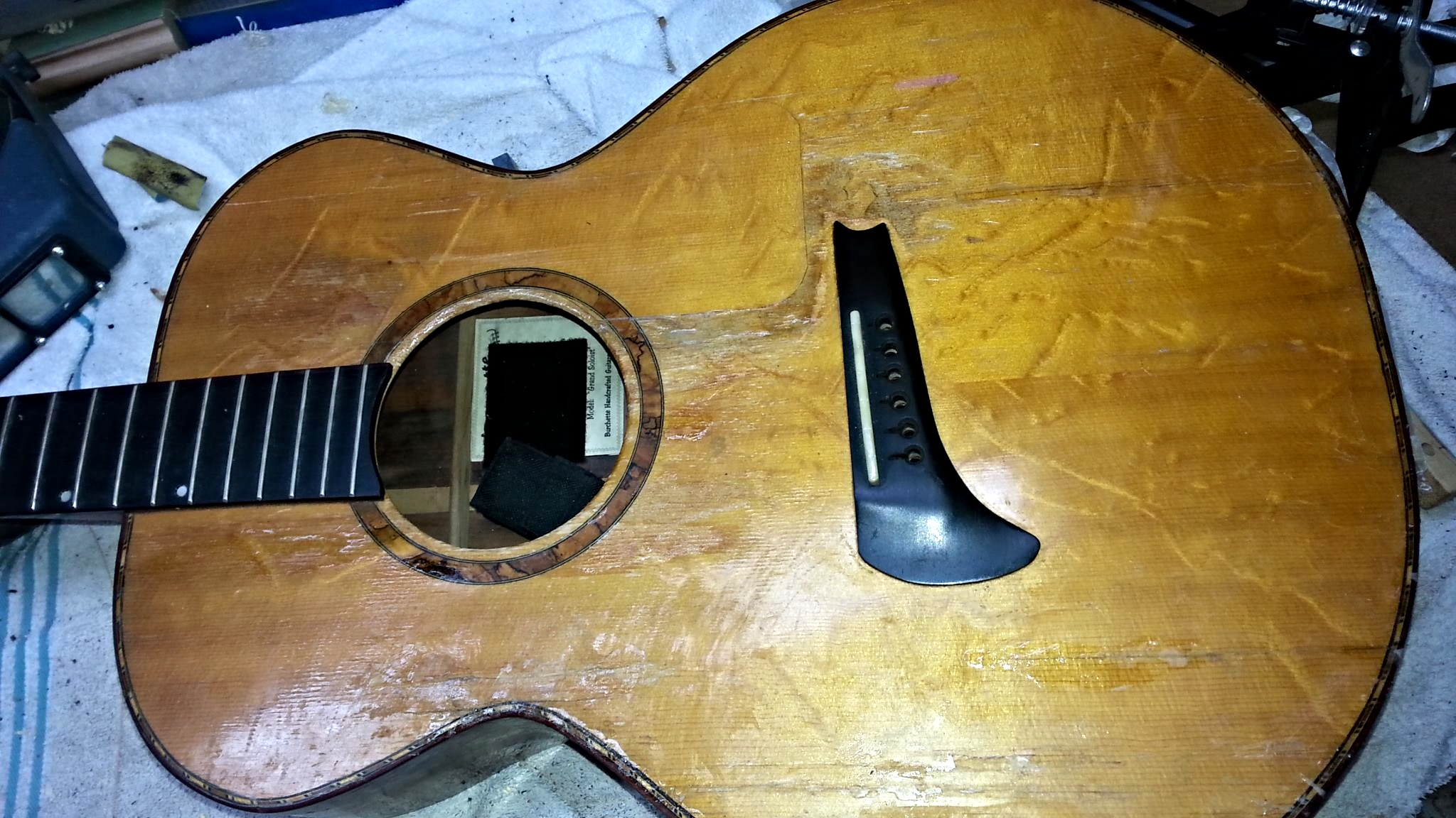 Care for your Burchette Guitar because sometimes love hurts...