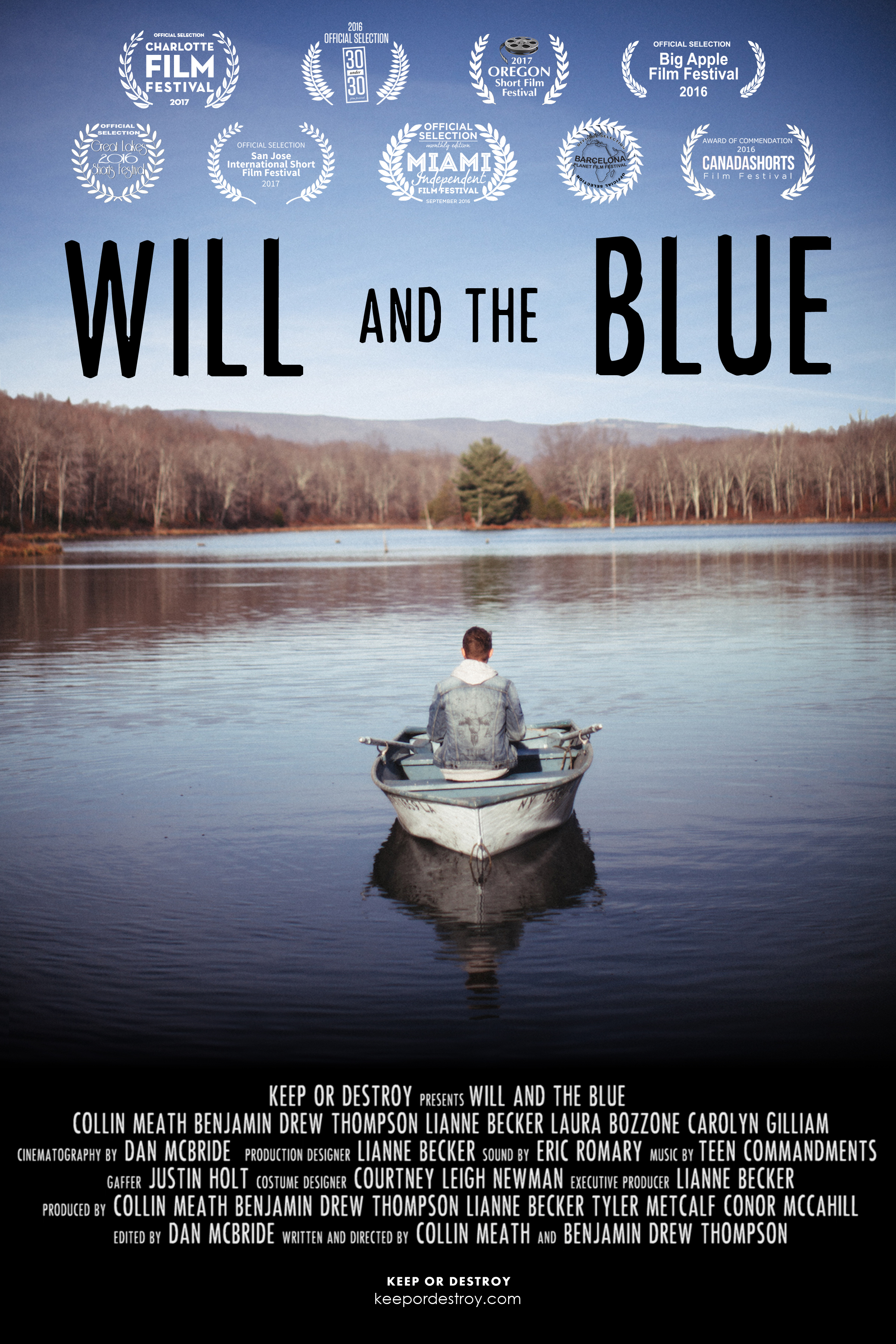Will and the Blue - Will and the Blue is a surreal dark comedy about the universal struggle of accepting change in our lives. Will and the Blue is an award winning short film and has been featured at over eleven film festivals including Big Apple, 30Under30, Charlotte Film Festival and San Jose International Short Film Festival.