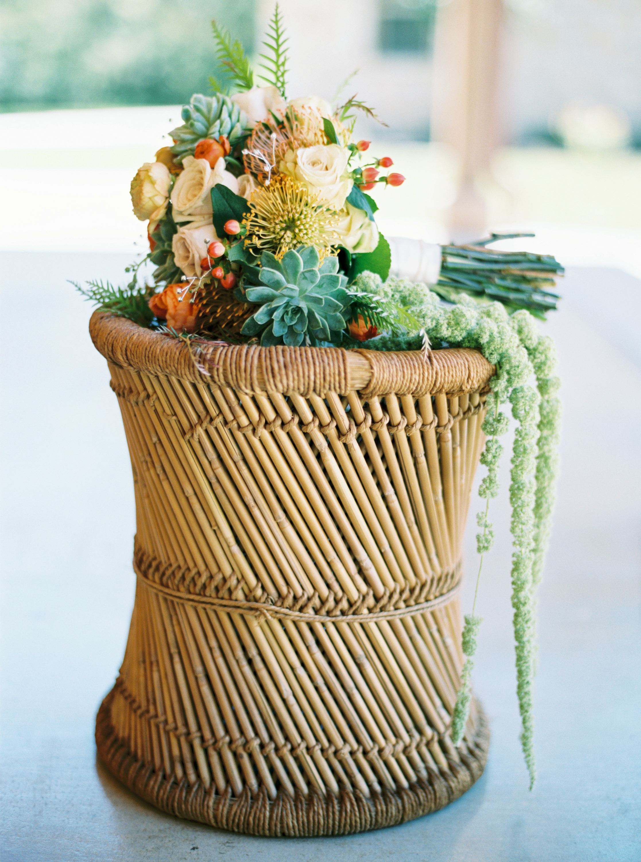 Hannah's gorgeous succulent bouquet...