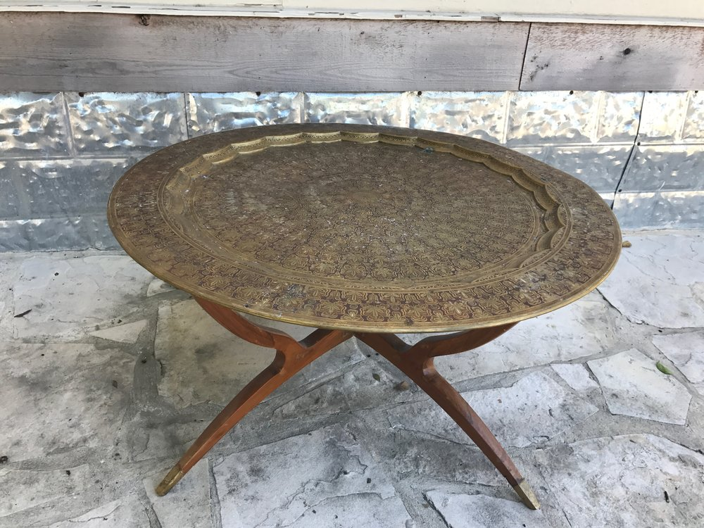 round brass table