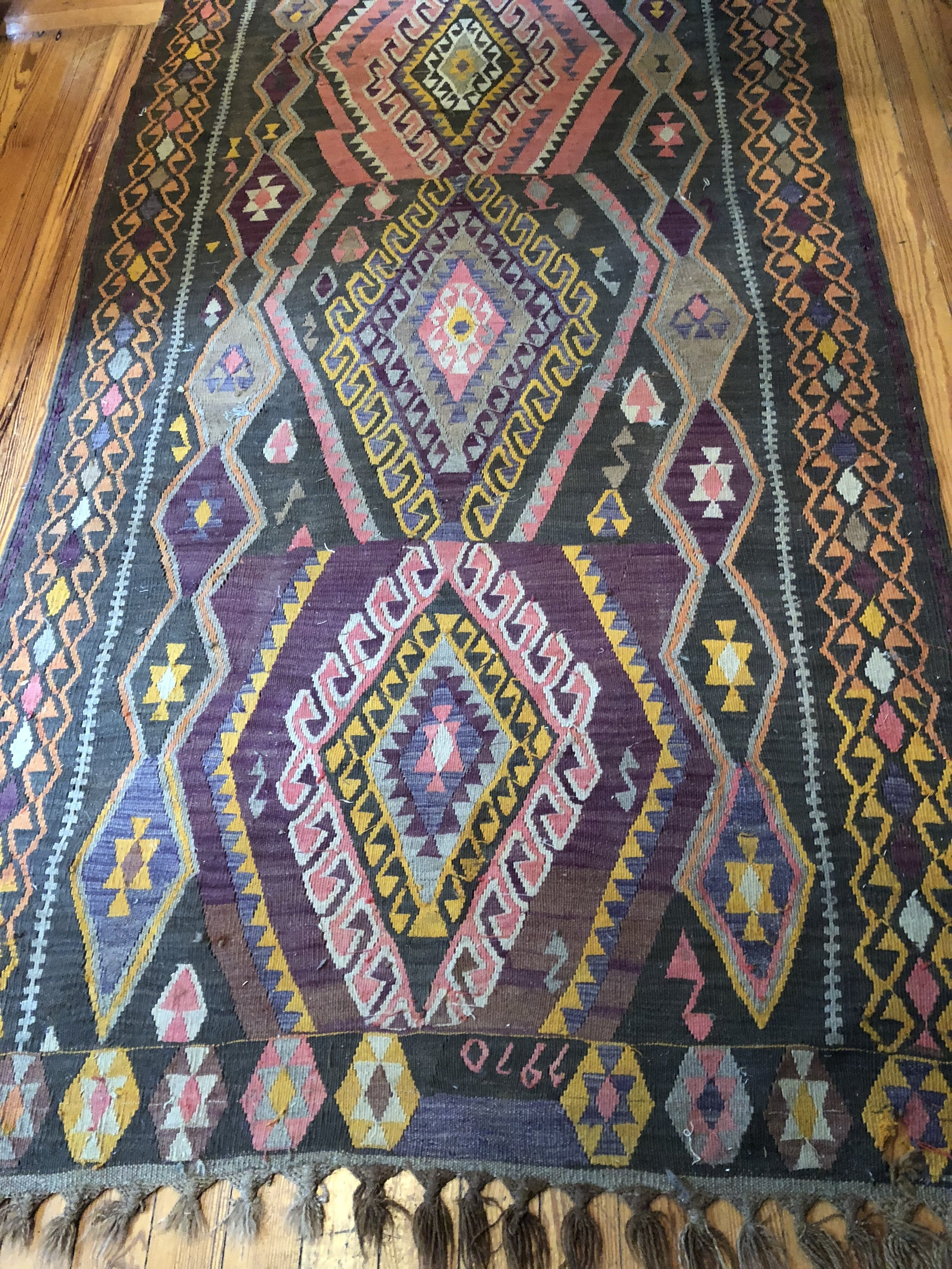 rug #12 - kilim runner 4' x 12'