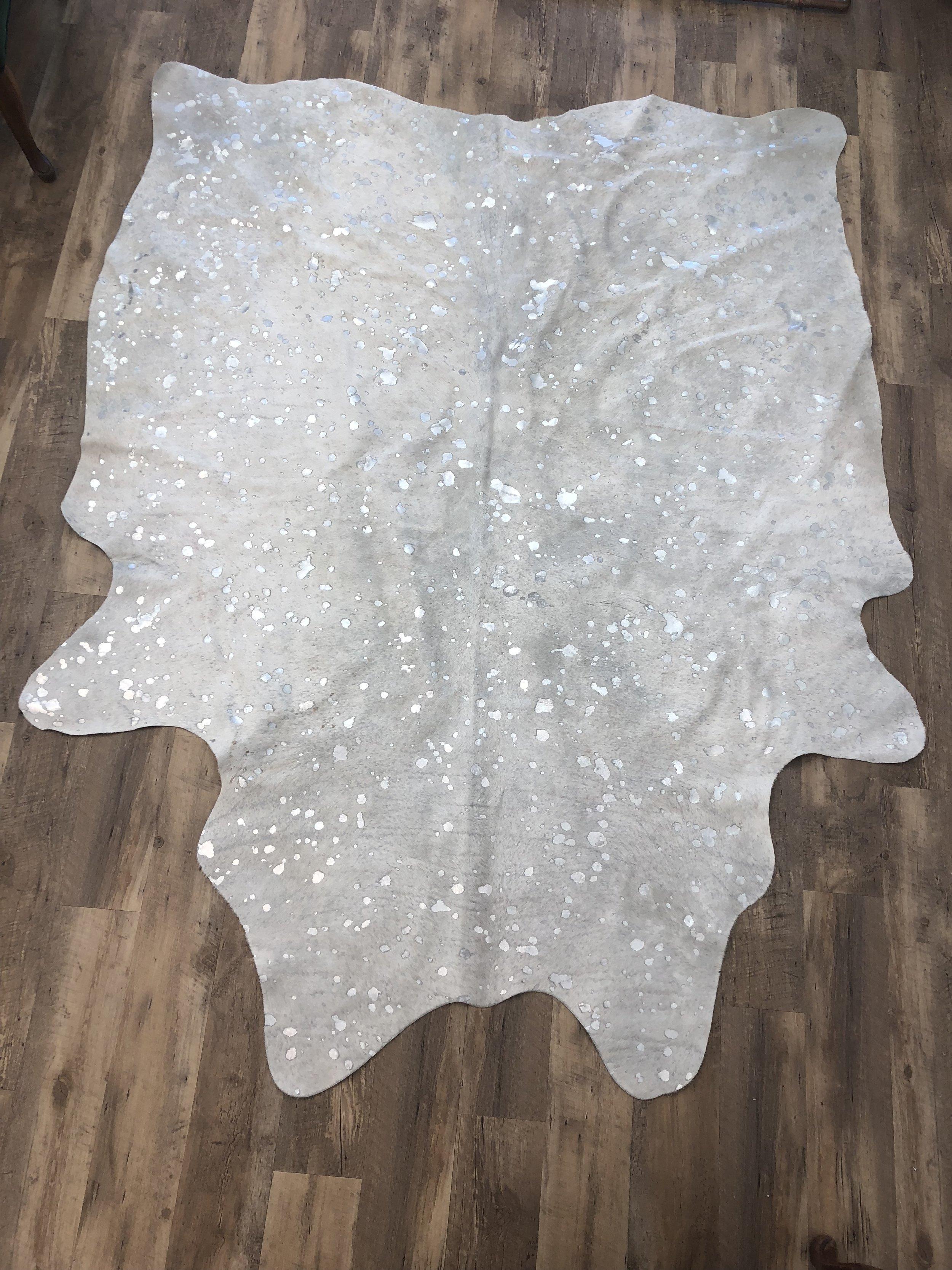 rug #11 - metallic cowhide rug