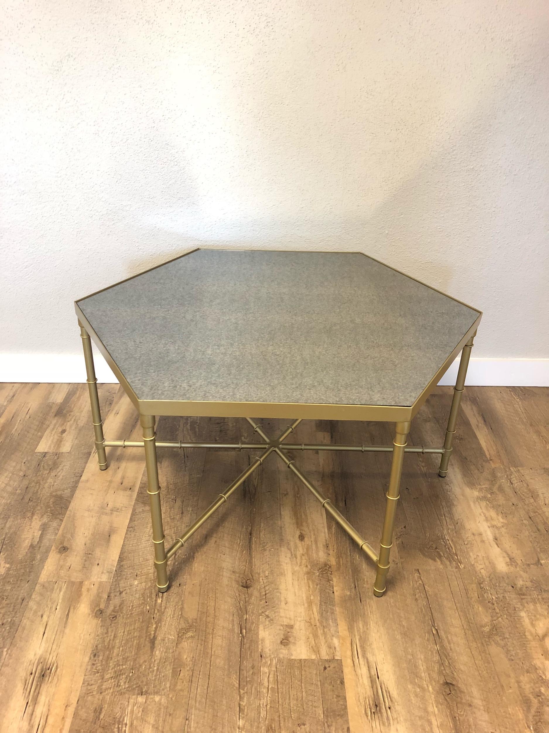 Gold honeycomb HeXigonal Coffee Table