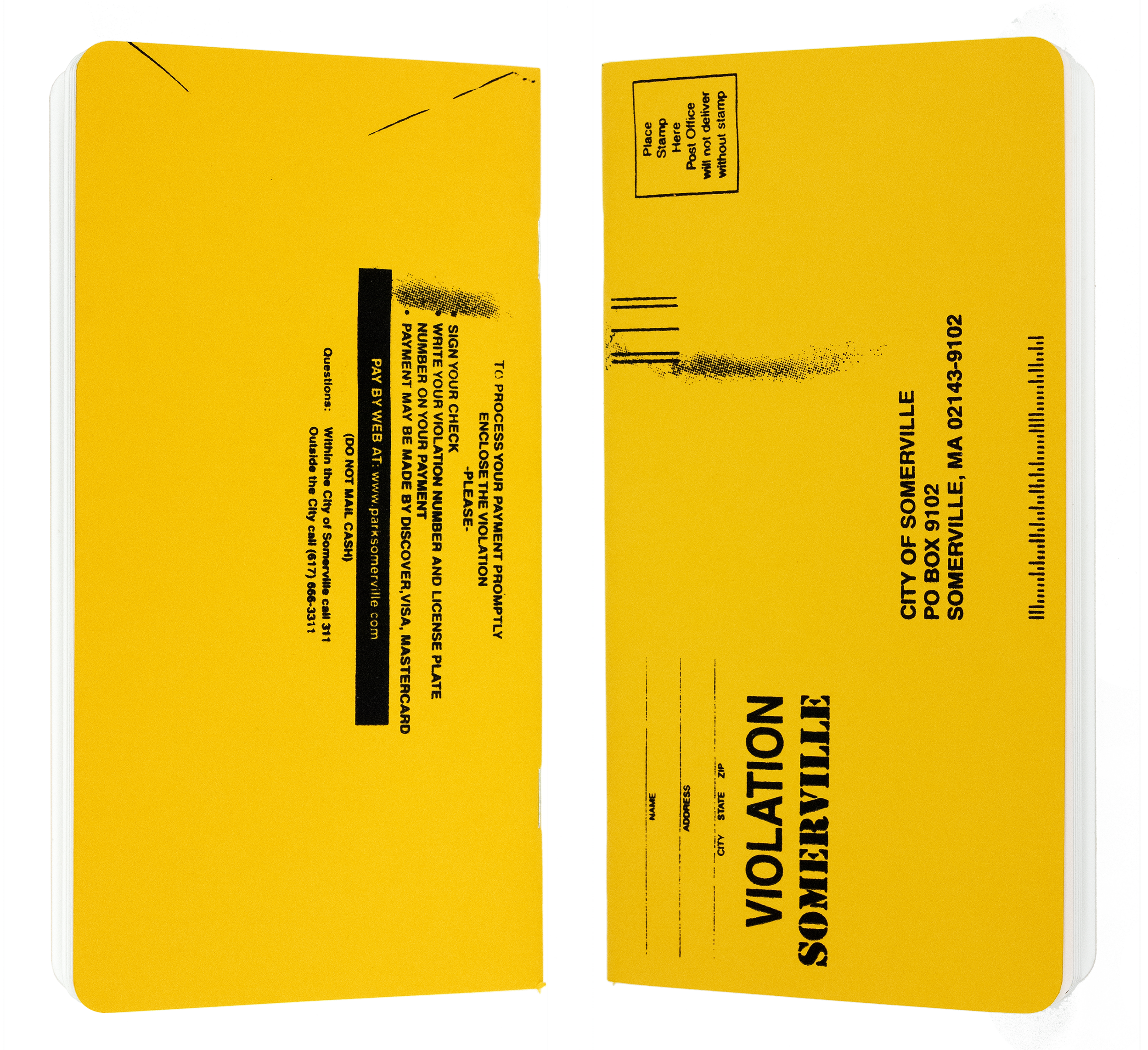 Parking Ticket Notebooks — Mitch Britton