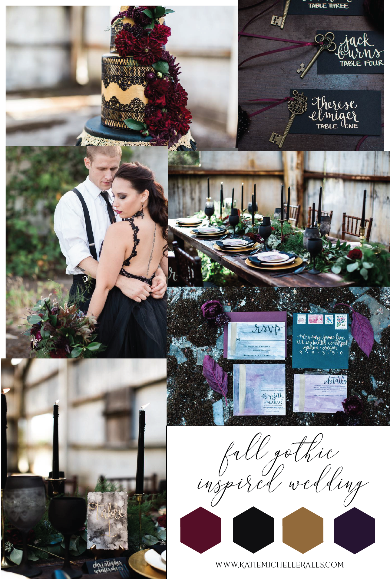 Gothic and Fall Inspired Wedding