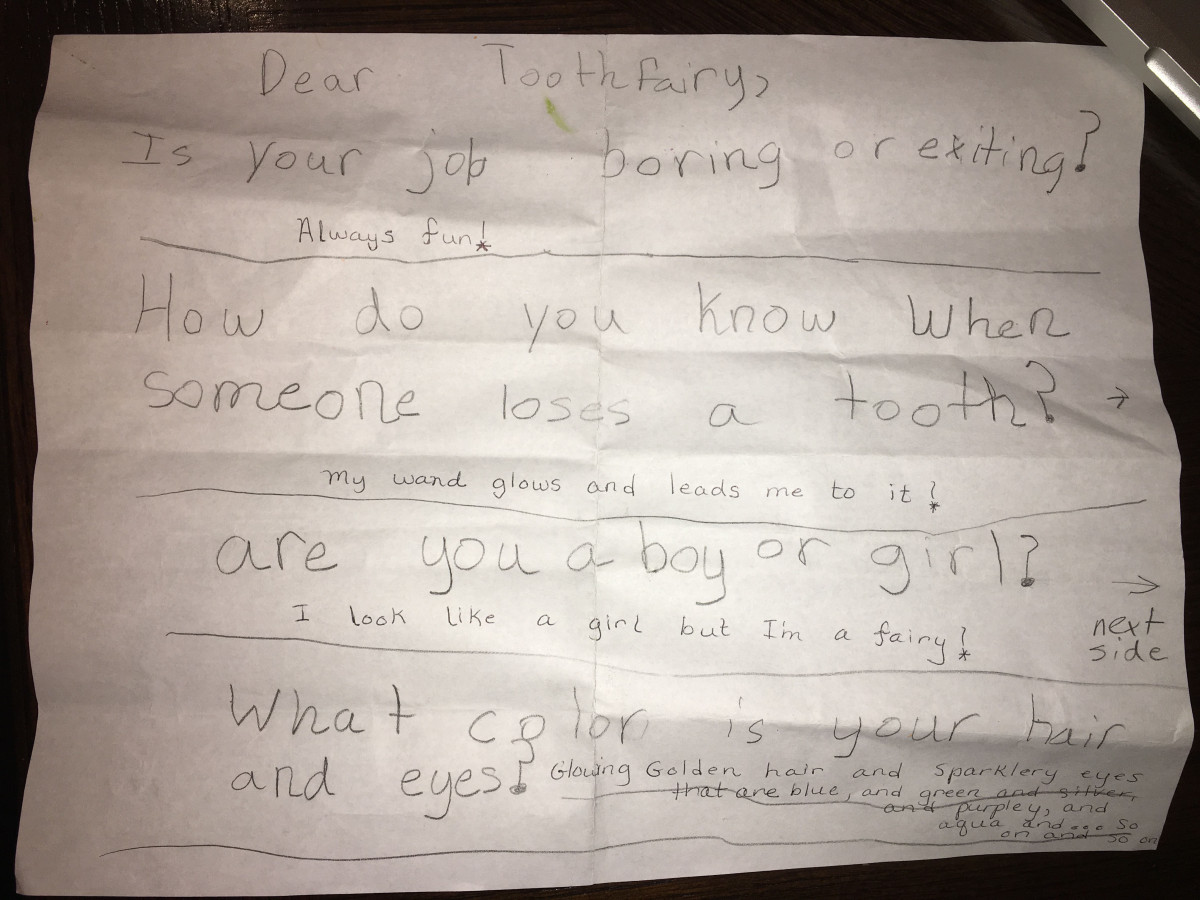 My first-ever interview was written to the Tooth Fairy when I was only five years old.