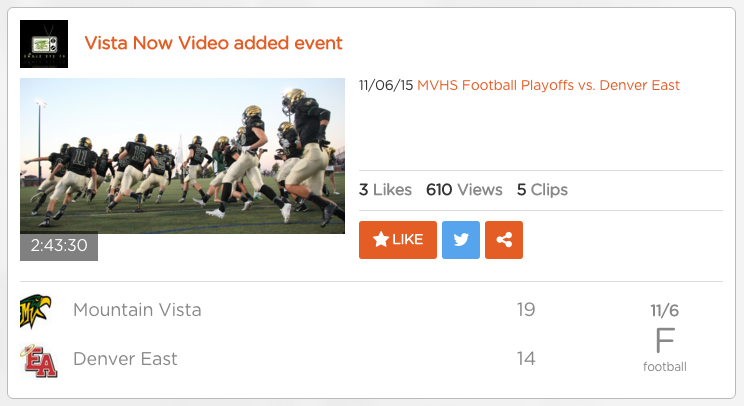 After a lot of unnecessary stress in the days leading up to the game, Vista Now Video was able to broadcast directly from the press booth at our home stadium. Alternatives methods originally including hoisting the camera and commentators in a bucket truck, accessing a nearby roof or streaming live from Parascope using a cellular device.