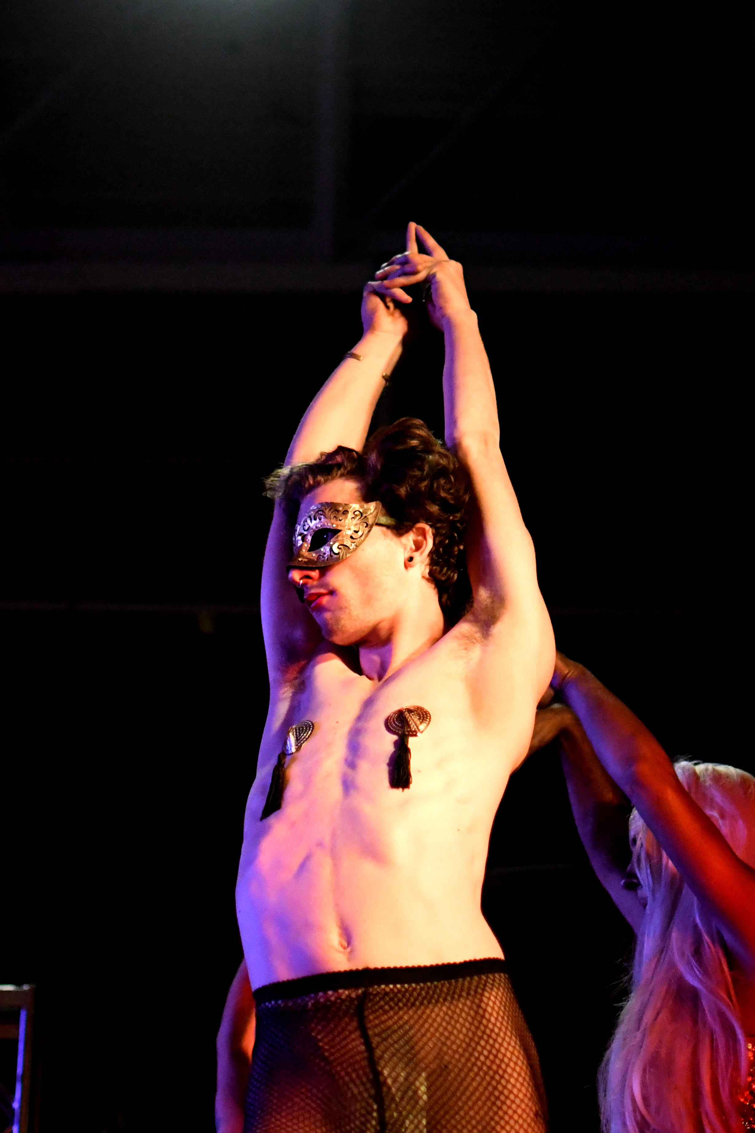 A student performs at the CU Drag Show.  November 4, 2017