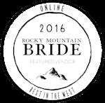 Print - Rocky Mountain Bride Magazine Colorado Fall & Winter 2016