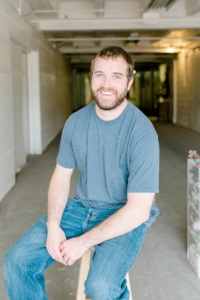 Ryan - Project Manager  Ryan builds anything we need from wood for your big day - pedestals or arbors in any shape, as well as our fixer-upper-guy in our studio. He may also be one of the go-to people the day-of your wedding. His big heart leaks happiness and willingness to help in anyway!
