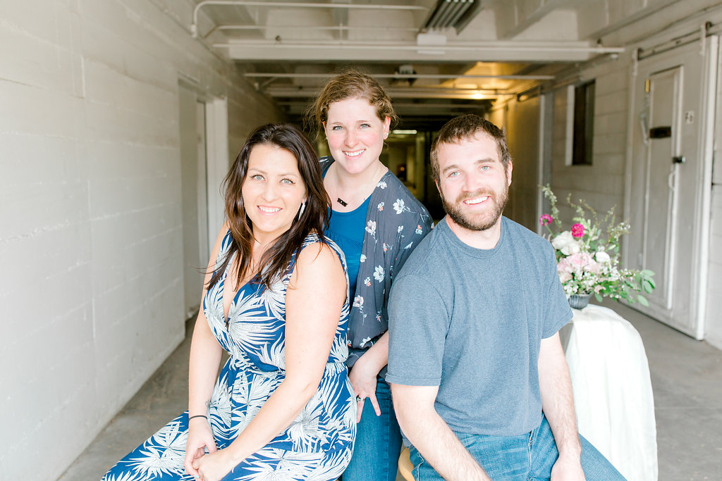 Jennie (Design Assistant), Mandy (Owner & Lead Designer), Ryan (Project Manager) Photo by Michele With One L
