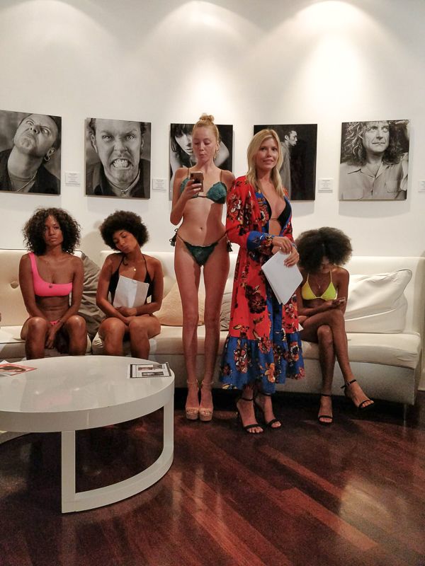 Swim The Globe Model Casting - models waiting