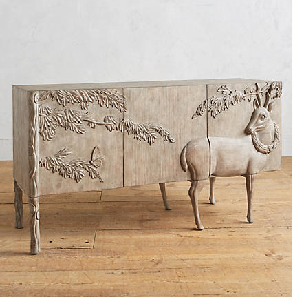 Anthropologie Deer Console for the win!