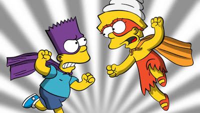 Bart and Lisa Simpson. The Simpsons.