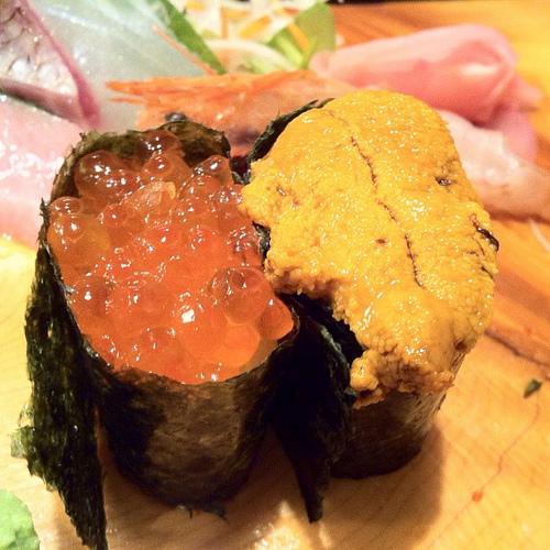 Uni sushi. Photo credit: coolinsights