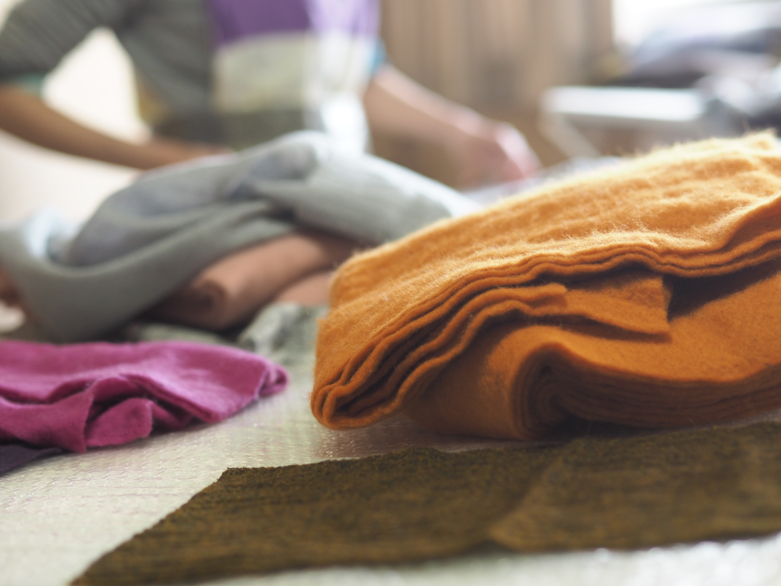 wool and silks