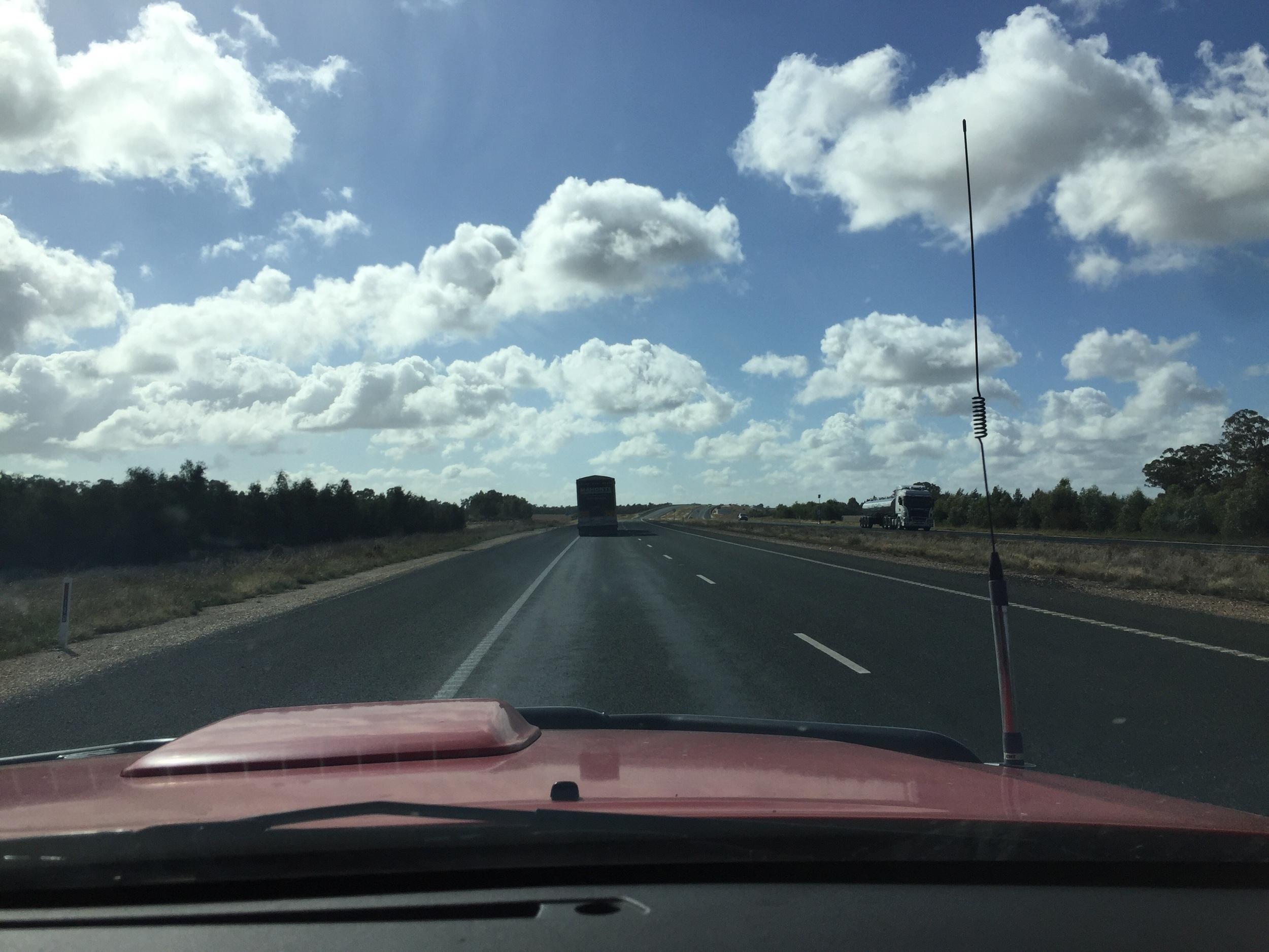Heading toward Forbes NSW