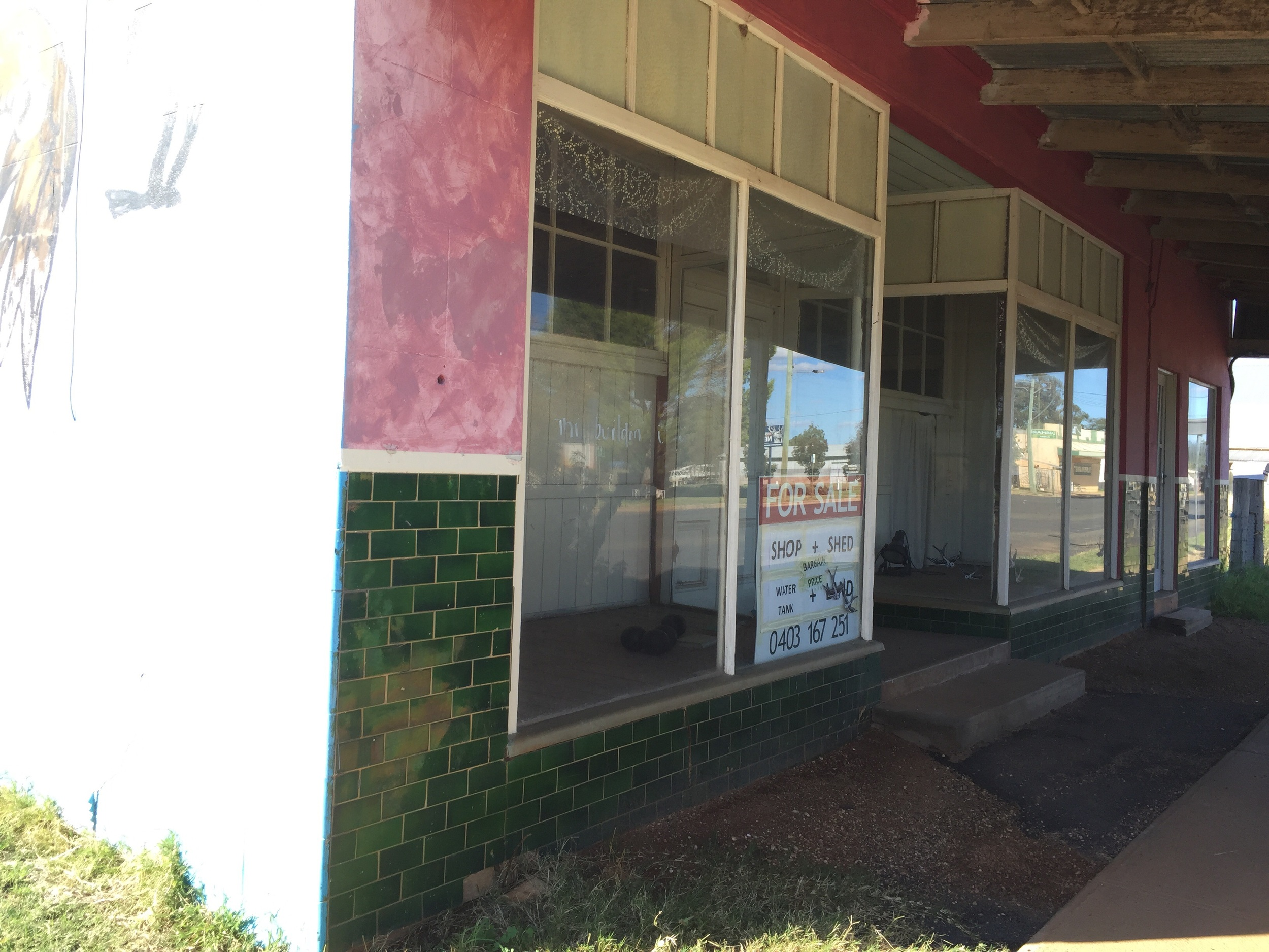 Many shops are empty and up for sale in this town which must be hard for the locals