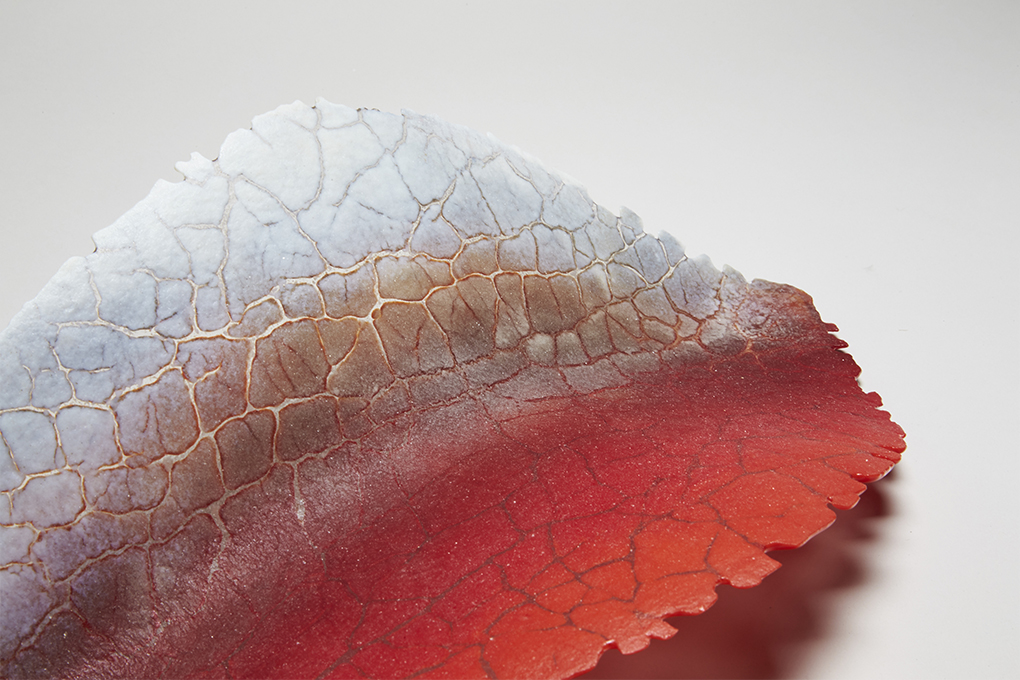 DETAIL OF POWDERED GLASS LEAF