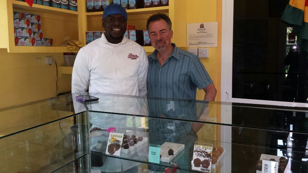 Kemron & David at The Grenada Chocolate Company