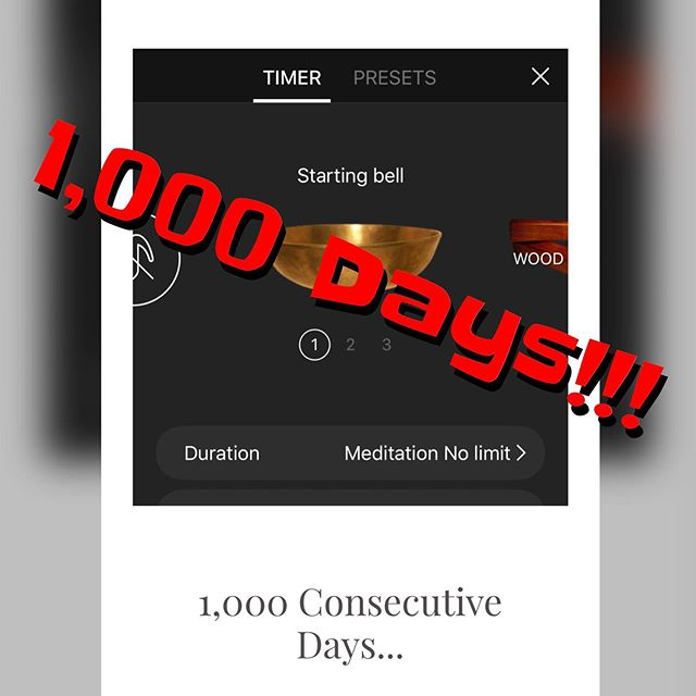 I forgot to post about this the other day, but last week marked 1,000 consecutive days of consistent meditation for me.  1000 days without missing a sitting.  To some that might sound impossible, to others it may be no big deal.  But it certainly seemed like a milestone to me.  Here's to the next 1,000 🥃😁 #meditation