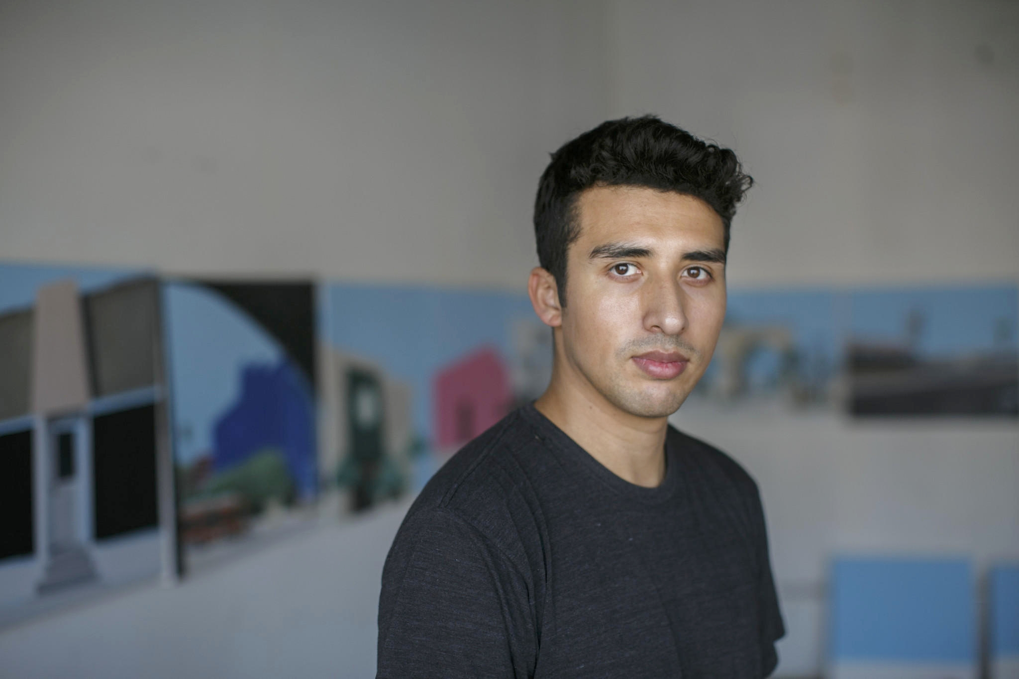 Ramiro Gomez in his Los Angeles studio. ( Marcus Yam / Los Angeles Times )