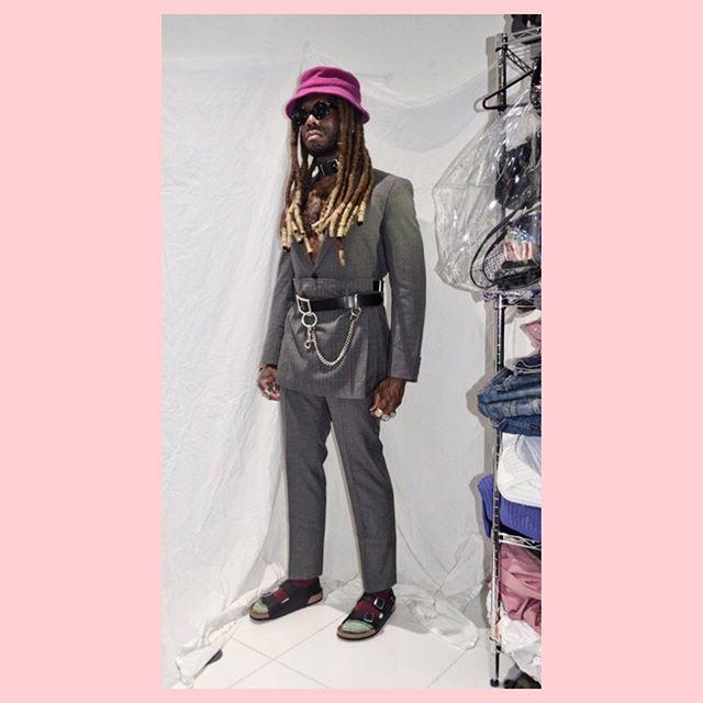 Haute Pink 2    #tgif #punk #suiting #avantgarde #commedesgarcons #birkenstock #uniqlo #fila #gray #pink #rocknroll #fashion #luxury #stylist #nyc #closetconfidential #rlpearsall