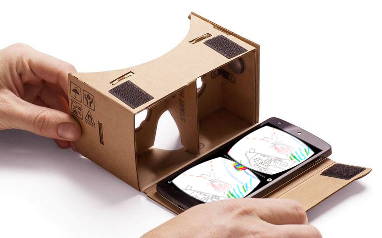 - Just using google cardboard, children can view their drawings in Virtual Reality!
