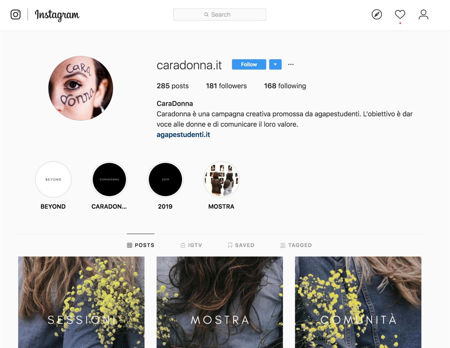 Segui la nostra Instagram @caradonna.it per rimanere aggiornato sulle attività -