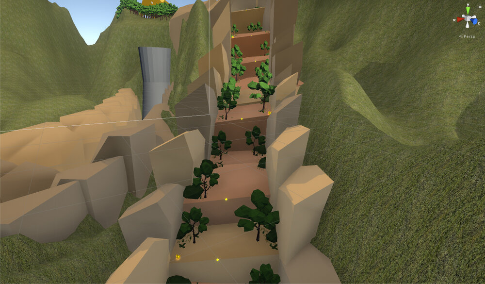 The staircase to the final fight area