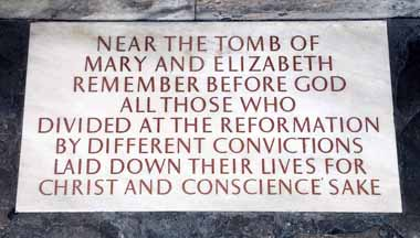 Memorial stone unveiled in 1977 in Westminster Abbey