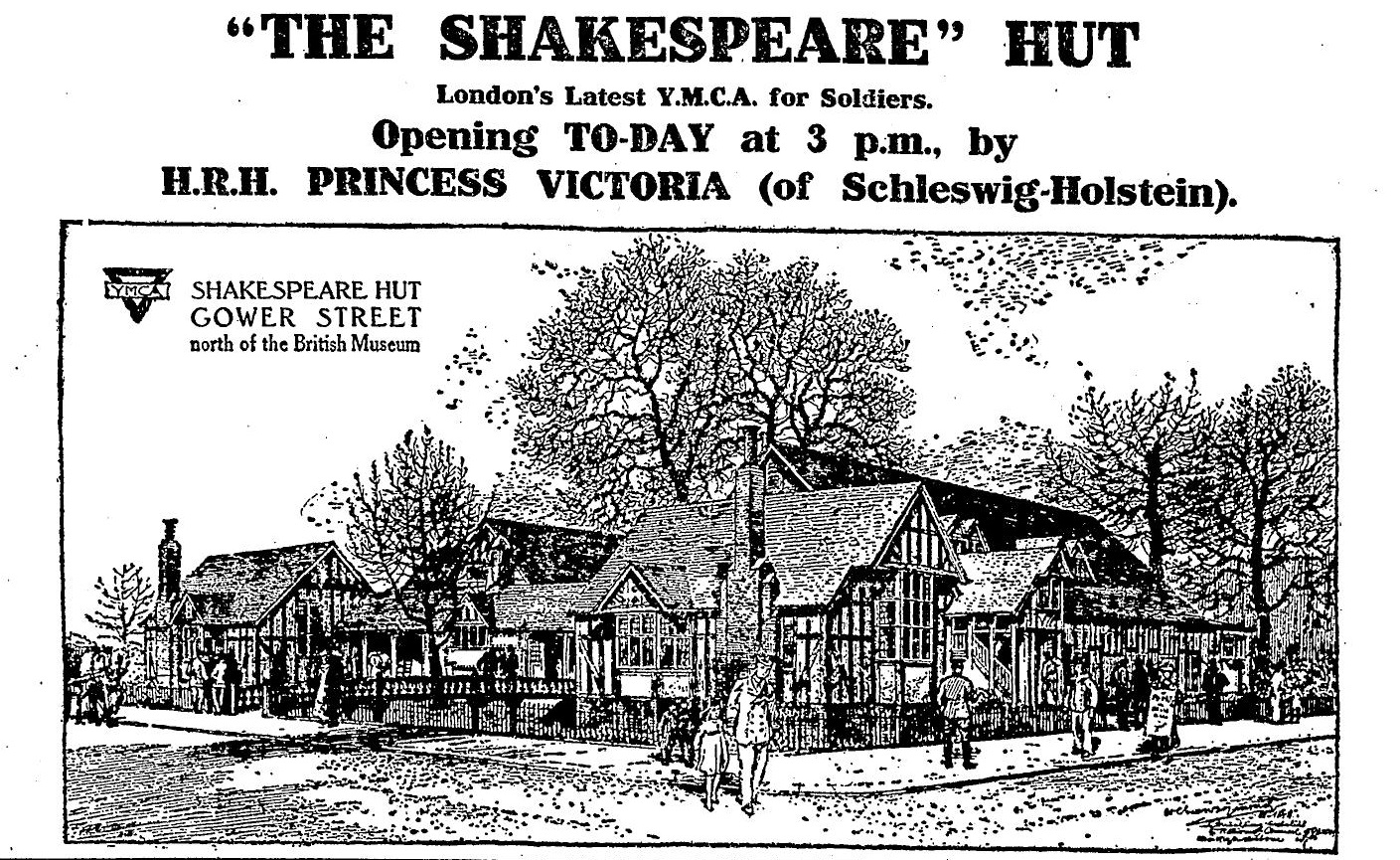 Advertisement for the opening of Shakespeare Hut in August 1916