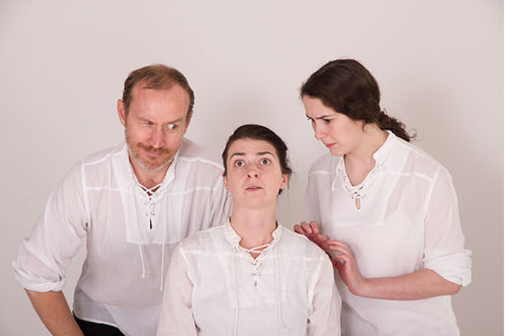 Three of the Soothplayers (from left): Nathan Carter, Dana McMillan, and Stephanie Crowe.