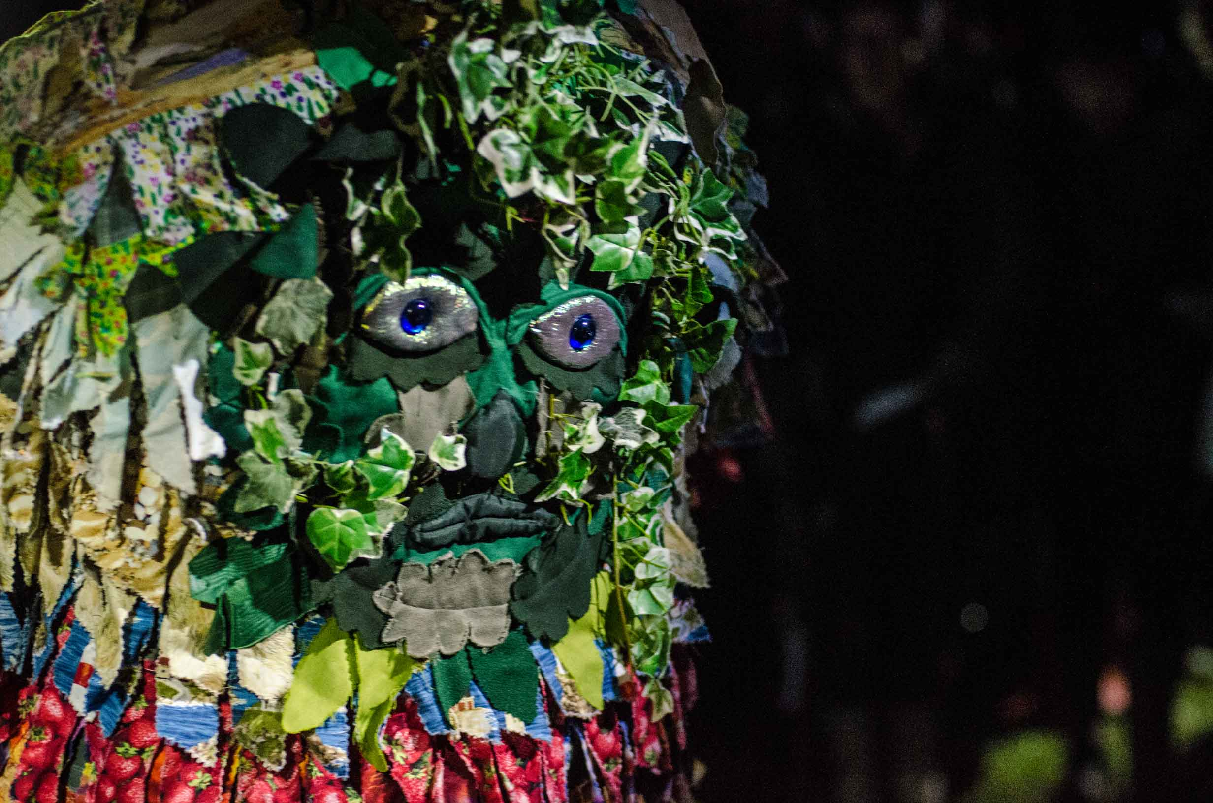 Enter the Green Man, the leader of the Wassailing ritual.