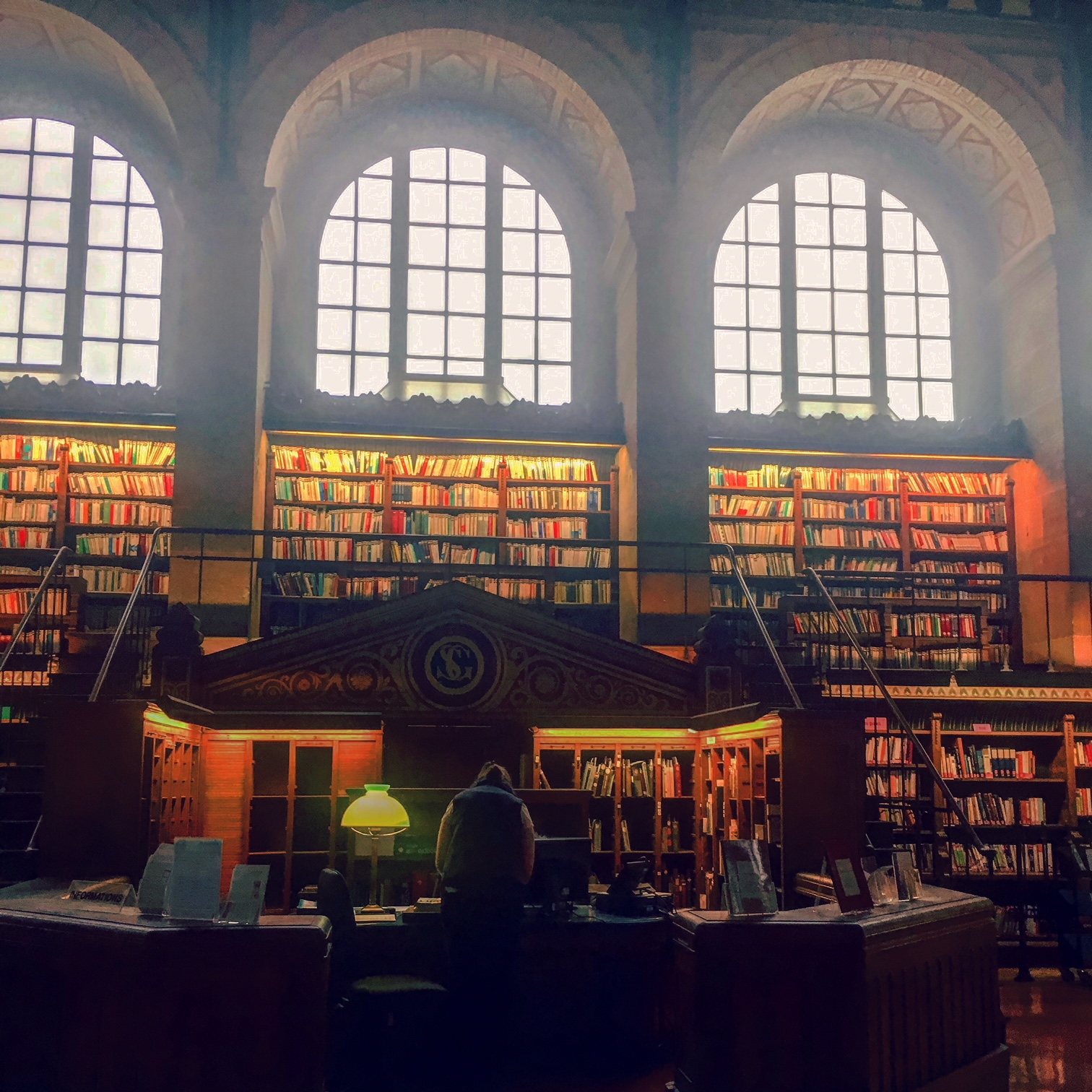 The gorgeous Bibliotèque Sainte-Geneviève in Paris.