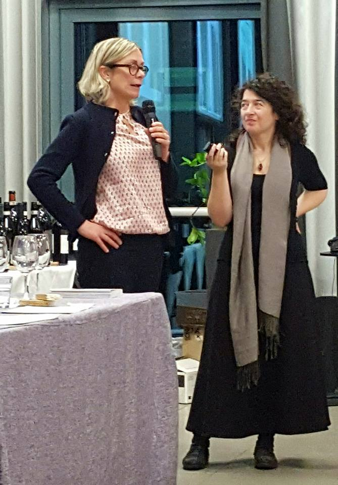 In veste di moderatrice. Con Elena Pantaleoni.