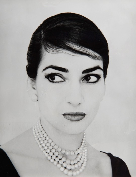 Maria Callas, ritratto (Ph. credits: Jerry Tiffany, 1958)