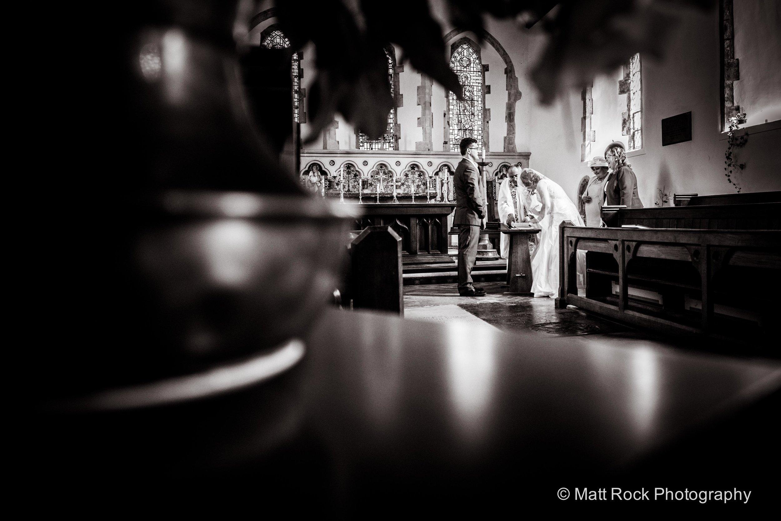 Church wedding at Lympne
