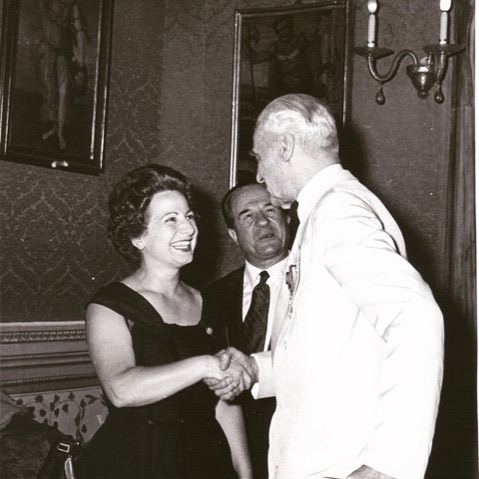 Remembering Huguette Dreyfus (photo taken 7 August 1962 at the Accademia Chigiana in Sienna with Ruggero Gerlin and the Conte Chigi) #accademiachigiana #clavecin #harpsichord