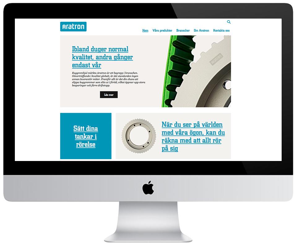 Nkel lanserade en ny hemsida till Aratron