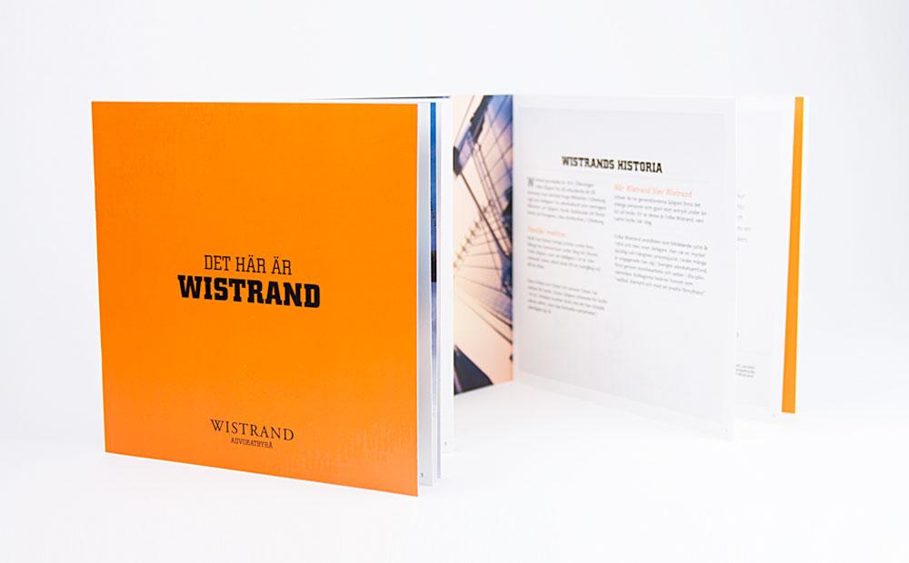 """""""Det här är Wistrand"""" – en broschyr till alla nyanställda"""
