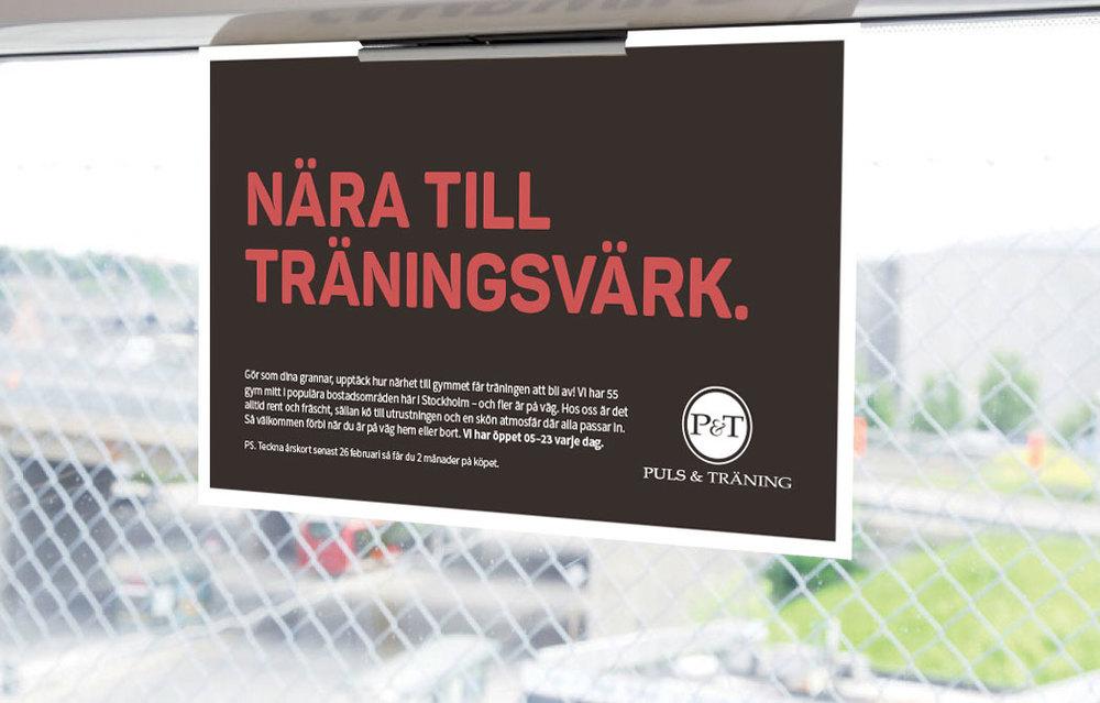 Vi stärkte Puls & Tränings grafiska profil och gav dem ett nytt reklamkoncept