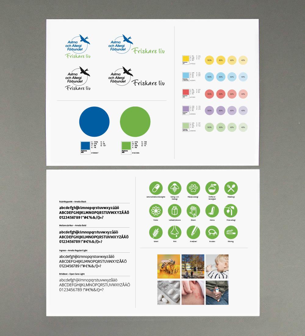 En stor del av projektet var att uppdatera och stärka den grafisk profilen, genom att tillföra ny typografi,nya färger, nya symboler och ett nytt bildspråk